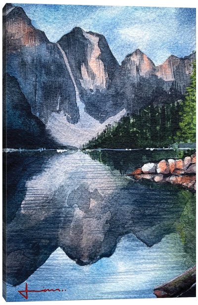 Mountain Reflection Canvas Art Print