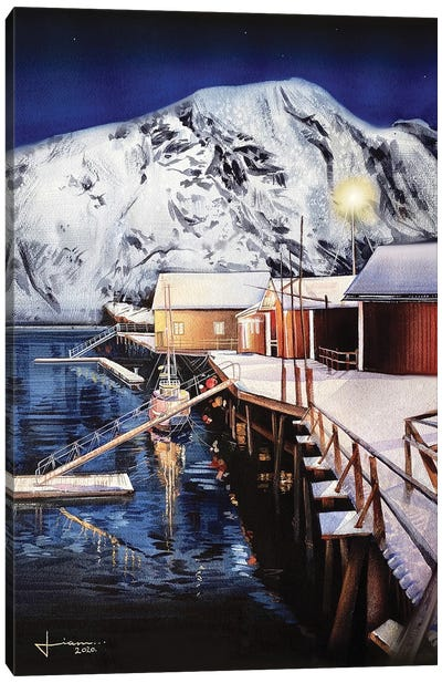 Harbor Canvas Art Print