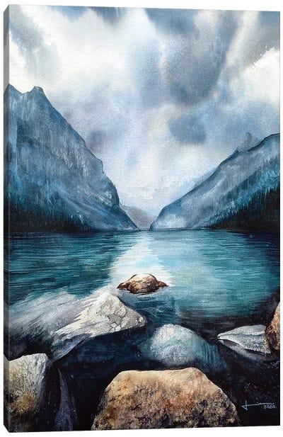 Rocky Water Edge Canvas Art Print