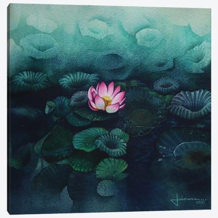 Lily Pads Canvas Print #LKM75} by Liam Kumawat Canvas Wall Art