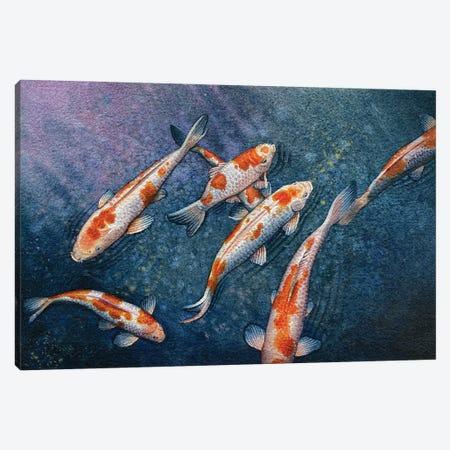 Koi Gasp Canvas Print #LKM80} by Liam Kumawat Canvas Wall Art