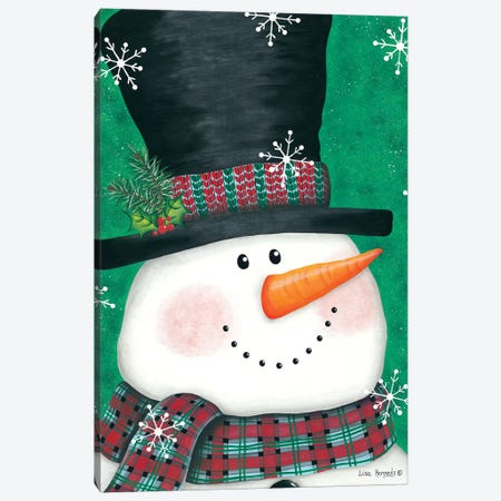 Portrait Snowman Canvas Print #LKN12} by Lisa Kennedy Canvas Wall Art