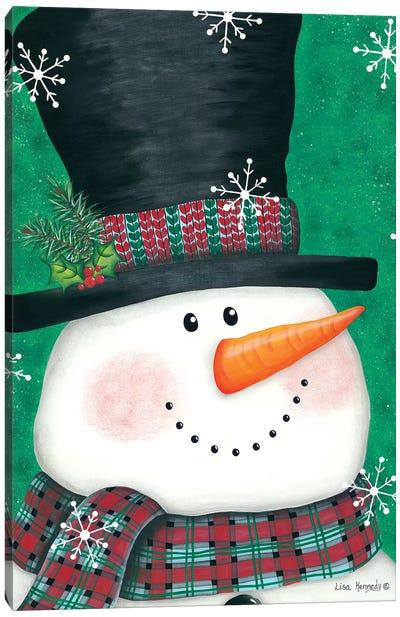 Portrait Snowman Canvas Art Print