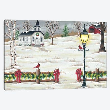 Christmas Lamppost Canvas Print #LKN15} by Lisa Kennedy Canvas Art Print