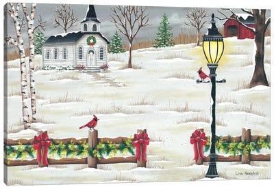 Christmas Lamppost Canvas Art Print