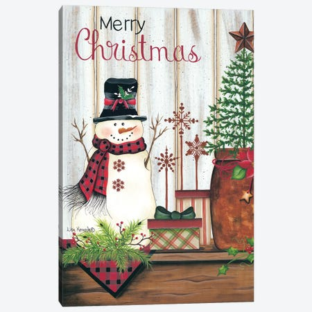 Merry Christmas Canvas Print #LKN17} by Lisa Kennedy Canvas Art Print