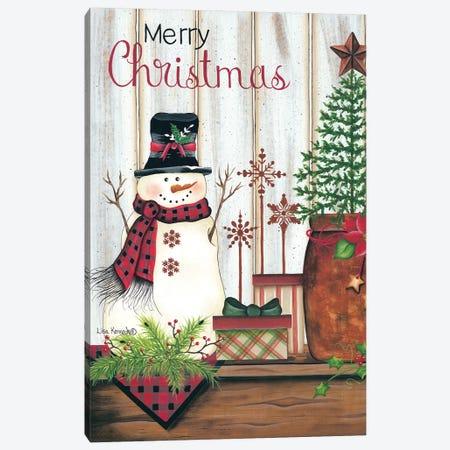 Merry Christmas Canvas Print #LKN17} by Lisa Kennedy Canvas Art Print