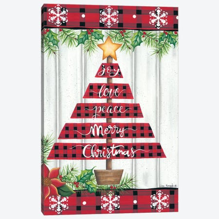 Red Buffalo Plaid Tree Canvas Print #LKN18} by Lisa Kennedy Canvas Art