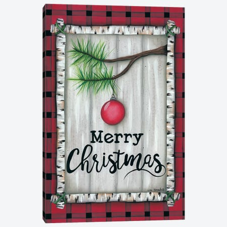Red Christmas Plaid Canvas Print #LKN19} by Lisa Kennedy Canvas Art