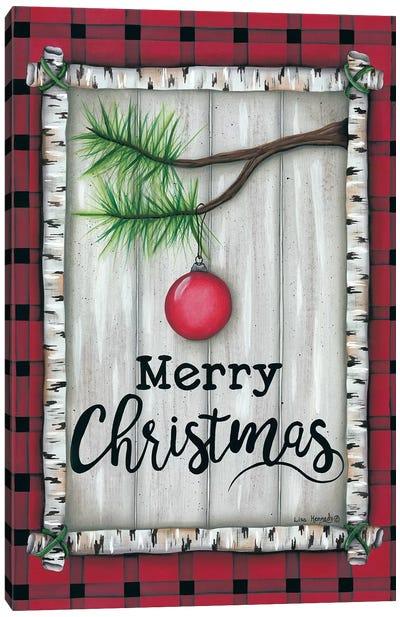 Red Christmas Plaid Canvas Art Print