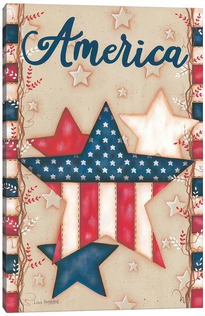 America Canvas Art Print
