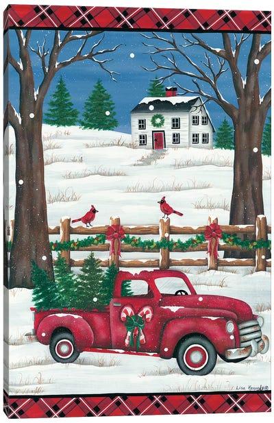 Candy Cane Truck Canvas Art Print