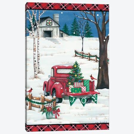 Christmas Joy Truck 3-Piece Canvas #LKN23} by Lisa Kennedy Canvas Print