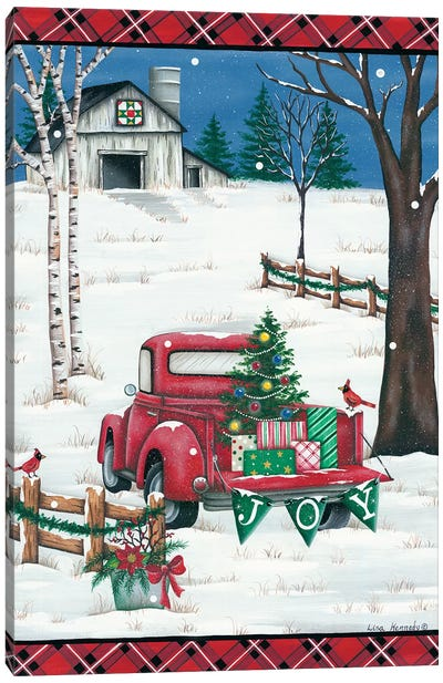 Christmas Joy Truck Canvas Art Print