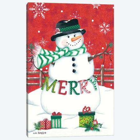 Hope Snowman Canvas Print #LKN27} by Lisa Kennedy Canvas Art