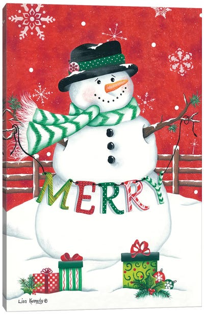 Hope Snowman Canvas Art Print