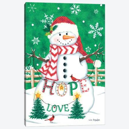 Merry Snowman Canvas Print #LKN28} by Lisa Kennedy Canvas Print