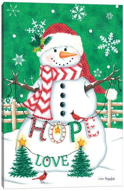 Merry Snowman Canvas Art Print
