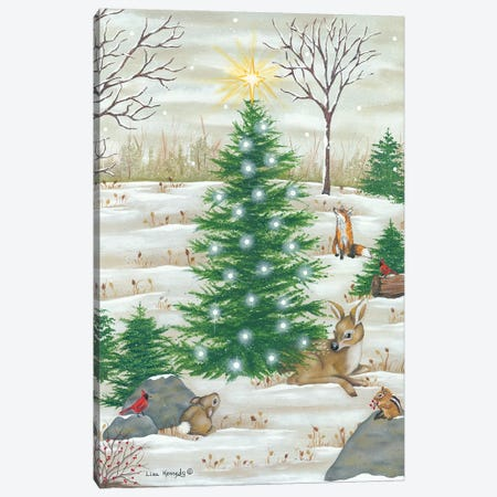 Baby Deer Canvas Print #LKN30} by Lisa Kennedy Canvas Art