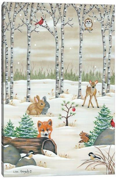 Woodland Critters Canvas Art Print