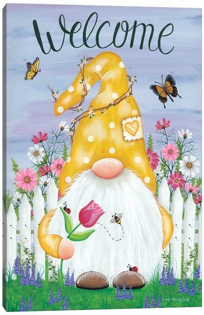 Spring Garden Gnome Canvas Art Print