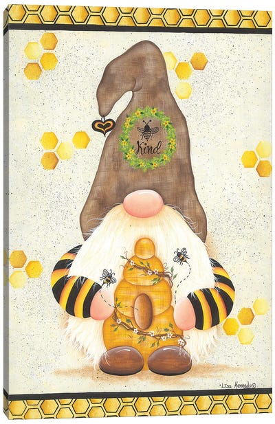 Bee Kind Canvas Art Print