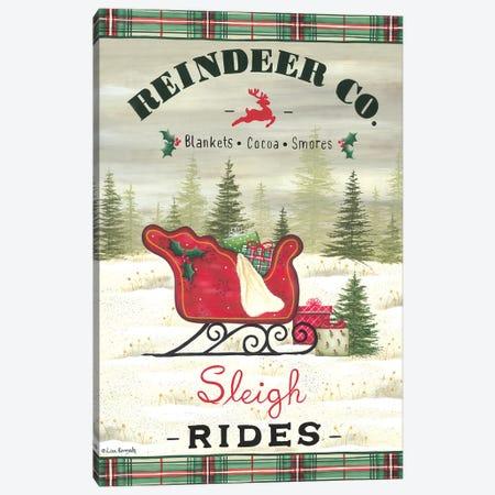 Sleigh Rides Canvas Print #LKN43} by Lisa Kennedy Canvas Art Print