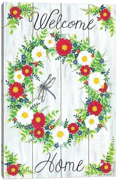 Welcome Home Wreath Canvas Art Print