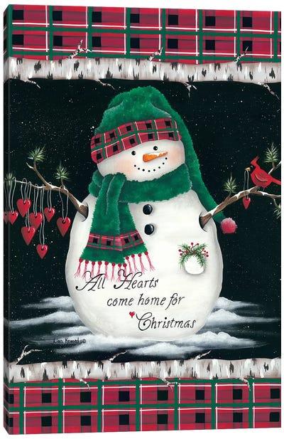 Hearts Home for Christmas Canvas Art Print