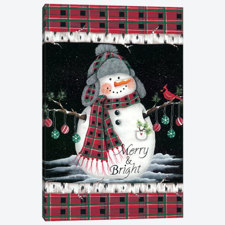 Merry & Bright Canvas Print #LKN5} by Lisa Kennedy Art Print