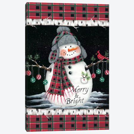 Merry & Bright Canvas Print #LKN5} by Lisa Kennedy Art Print
