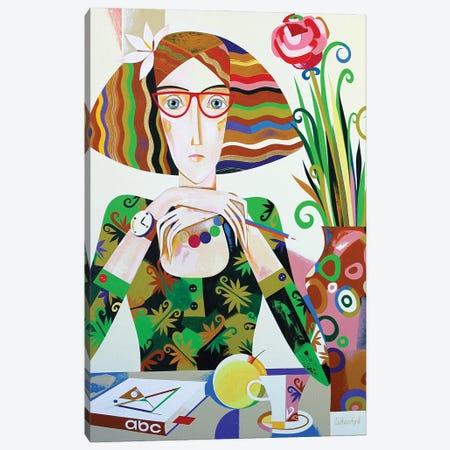 Schoolmarm Canvas Print #LKS106} by Neli Lukashyk Canvas Wall Art