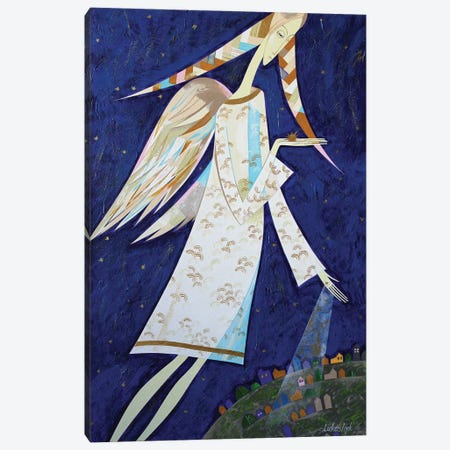 Angels For Us Canvas Print #LKS107} by Neli Lukashyk Canvas Wall Art