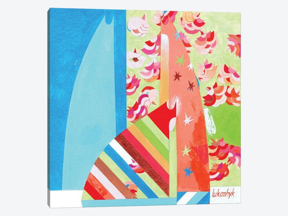 By The Sakura by Neli Lukashyk 1-piece Canvas Artwork