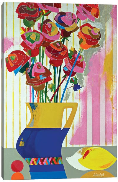 Brazilian Roses by Neli Lukashyk Canvas Art Print