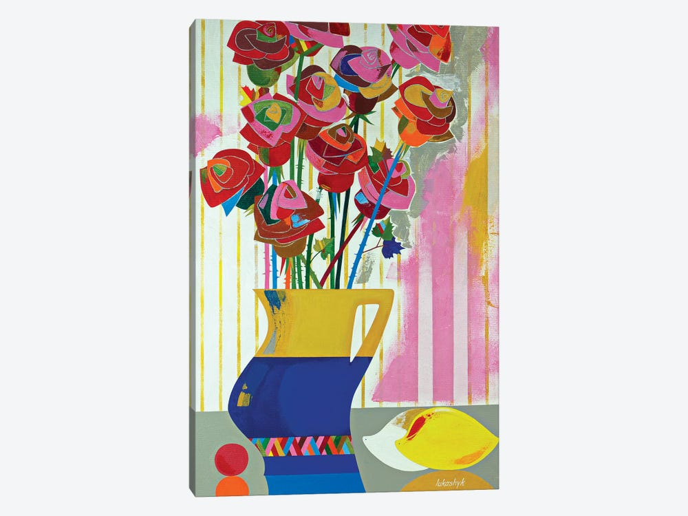 Brazilian Roses by Neli Lukashyk 1-piece Canvas Art Print