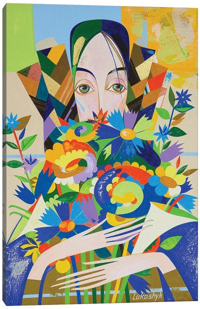 Flowers For Claudia by Neli Lukashyk Canvas Art Print