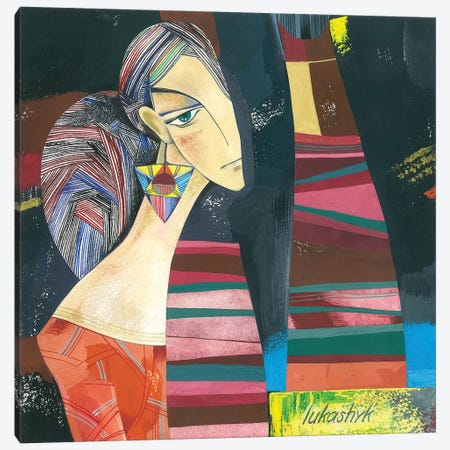 Girlfriends 3-Piece Canvas #LKS27} by Neli Lukashyk Art Print