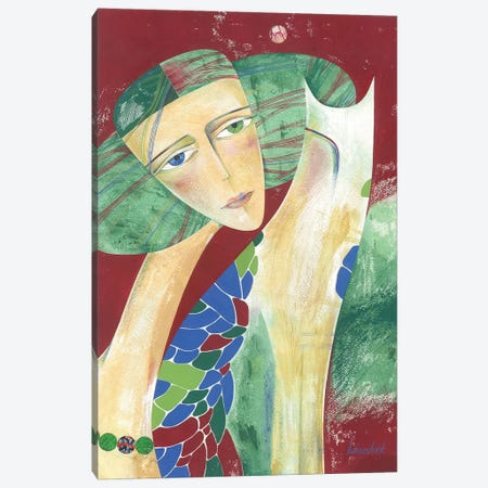 Moon Beads Canvas Print #LKS39} by Neli Lukashyk Art Print
