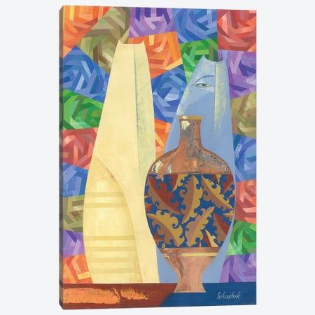 Porcelain And Blue Cats 3-Piece Canvas #LKS46} by Neli Lukashyk Canvas Art Print