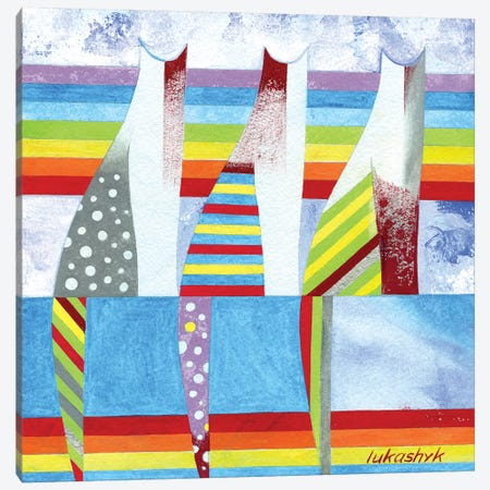 Rainbow Cats Canvas Print #LKS47} by Neli Lukashyk Canvas Art Print
