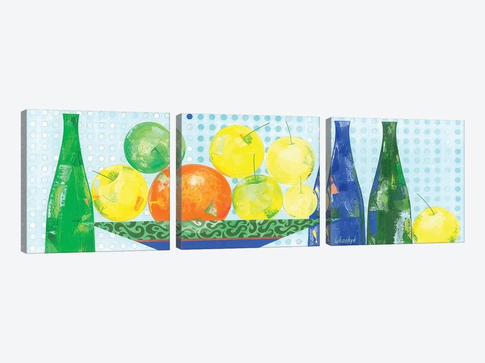 Apples From My Garden by Neli Lukashyk 3-piece Canvas Wall Art