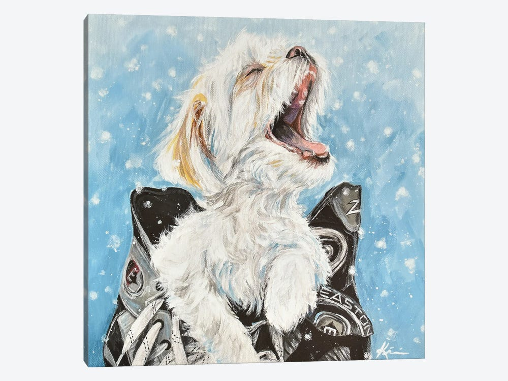 Shichon Catching Snowflakes by Lindsay Kivi 1-piece Canvas Wall Art