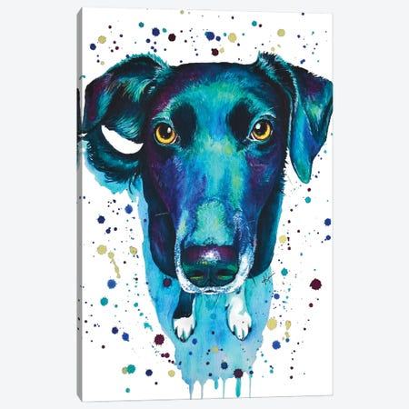 Border Collie Canvas Print #LKV18} by Lindsay Kivi Canvas Artwork