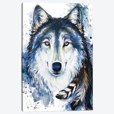 Feed The Good Wolf Canvas Print #LKV25} by Lindsay Kivi Canvas Wall Art