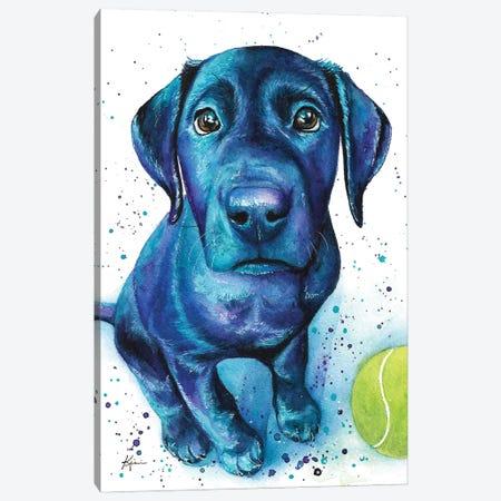 Black Lab Puppy Canvas Print #LKV47} by Lindsay Kivi Canvas Wall Art