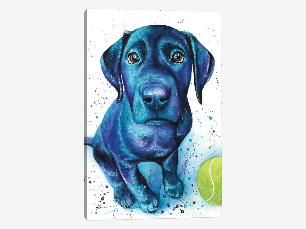 Black Lab Puppy by Lindsay Kivi 1-piece Art Print