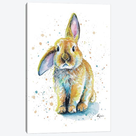Bunny Canvas Print #LKV48} by Lindsay Kivi Art Print