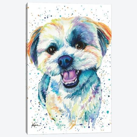 Shih Tzu Iii Canvas Print #LKV59} by Lindsay Kivi Canvas Wall Art