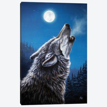 Full Moon Canvas Print #LKV5} by Lindsay Kivi Canvas Art